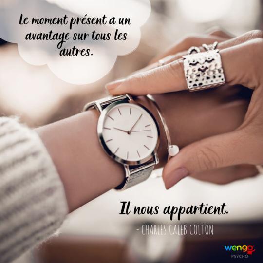 phrase inspirante moment present